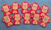 MONKEYS WITH NUMBERS FINGER PUPPETS SET
