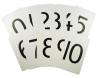 PLASTIC NUMBER CARDS 0-10 CLASS PACK