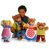 LARGE STORY TELLING HAND PUPPET SET - GOLDILOCKS & THE 3 BEARS