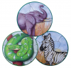 MAGNETIC WILDLIFE ROUND PUZZLE