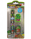THE TRASH PACK PENCIL & ERASER SET
