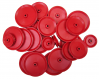 PLASTIC PULLEYS PACK OF 24