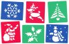 CHRISTMAS STENCILS PACK OF 6
