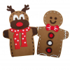 CHRISTMAS REINDEER/GINGERBREAD MAN PUPPET PACK