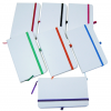 WHITE NOTEBOOK WITH COLOURED ELASTIC