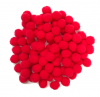 SMALL RED POM POMS PACK OF 100