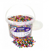 PLASTIC TUBE BEADS JUMBO BUCKET