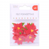 FELT STICKERS - POINSETTIAS