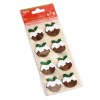 GLITTER STICKERS - CHRISTMAS PUDDINGS