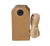 TAGS WITH JUTE STRING - KRAFT AND BLACK